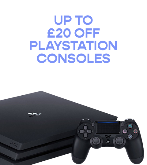 Get up to £20 off Playstation Consoles