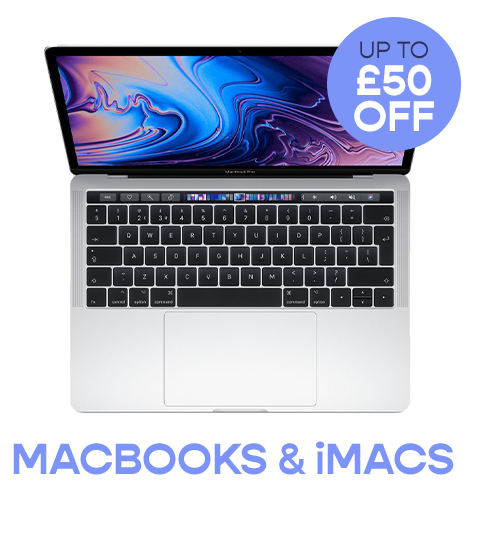 Get up to £50 off Macbooks and iMacs