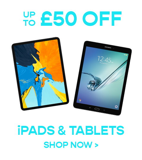 Get up to £40 off iPads & Tablets