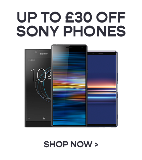 Up to £30 off Sony Mobiles
