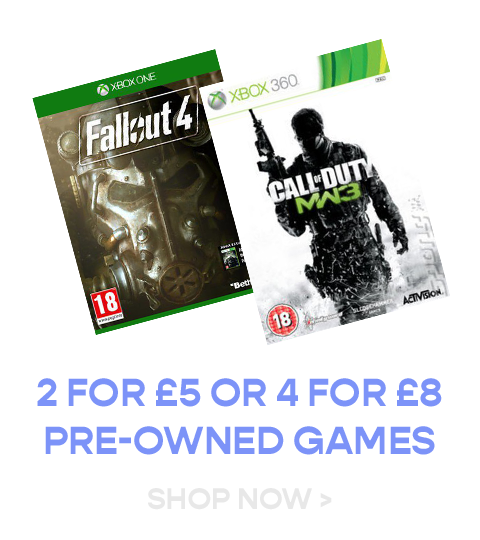 2 for £5 or 4 for £8 Pre-Owned Games