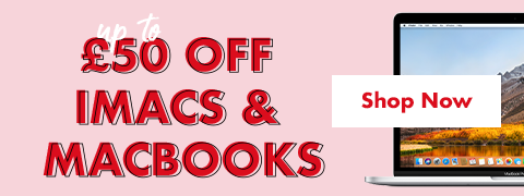 Up to £50 off iMacs & Macbooks