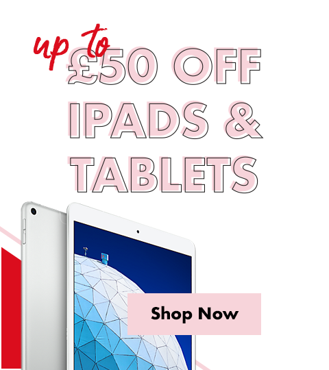 Up to £50 off iPads & Tablets