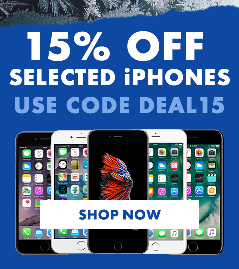 15% off selected iPhones. Use code DEAL15